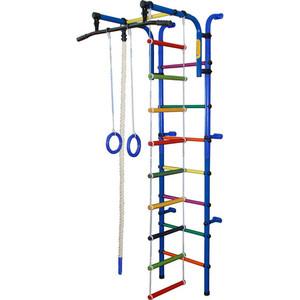 Детский спортивный комплекс Формула здоровья Орлёнок-1А ПЛЮС синий/радуга