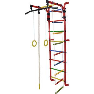 Детский спортивный комплекс Формула здоровья Сигма-1А Плюс красный/радуга детский спортивный комплекс формула здоровья мурзилка s красный радуга