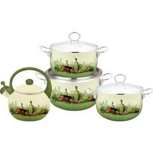 Набор посуды 7 предметов Kelli (KL-4445) набор посуды эмаль элеонора 7 предметов
