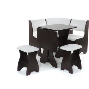 Набор мебели для кухни Бител Тюльпан мини - однотонный (венге, Борнео милк, венге) набор мебели для кухни бител орхидея однотонный венге борнео умбер венге