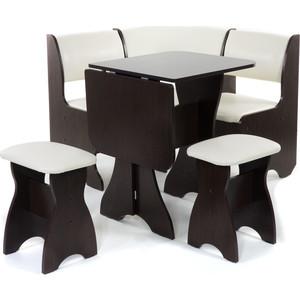 Набор мебели для кухни Бител Тюльпан мини - однотонный (венге, Борнео крем, венге) набор мебели для кухни бител орхидея однотонный венге борнео умбер венге