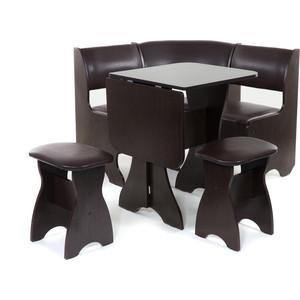 Набор мебели для кухни Бител Тюльпан мини - однотонный (венге, Борнео умбер, венге) набор мебели для кухни бител орхидея однотонный венге борнео умбер венге