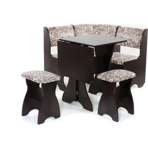 Набор мебели для кухни Бител Тюльпан мини - однотонный (венге, замша 623, венге) набор мебели для кухни бител тюльпан однотонный венге борнео умбер венге