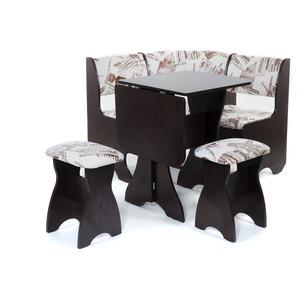 купить Набор мебели для кухни Бител Тюльпан мини - однотонный (венге, замша 642 Париж, венге) по цене 6828.9 рублей
