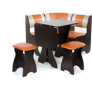 Набор мебели для кухни Бител Тюльпан мини - комби (венге, с-120 + с-101, венге) 101 розовый тюльпан