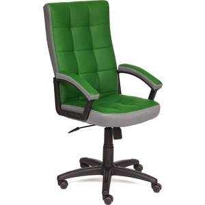 Кресло TetChair TRENDY кожзам/ткань зеленый/серый 36-001/12