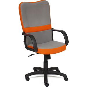Кресло TetChair СН757 ткань серый/оранжевый С27/С23 tetchair кресло руководителя tetchair kappa иск кожа черная серая ткань иск кожа черная серая ткань