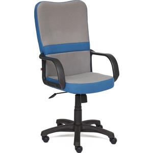Кресло TetChair СН757 ткань серый/синий С27/С24 кресло tetchair сн888 ткань сетка синий синий 2601 10