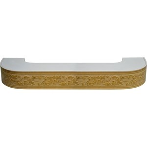 Карниз потолочный пластиковый DDA Поворот Овация двухрядный бук 2.2 уголок пластиковый универсальный гибкий 20х20х2700 мм бук натуральный 155