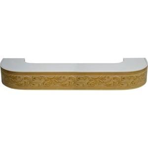 Карниз потолочный пластиковый DDA Поворот Овация двухрядный бук 3.4 уголок пластиковый универсальный гибкий 20х20х2700 мм бук натуральный 155