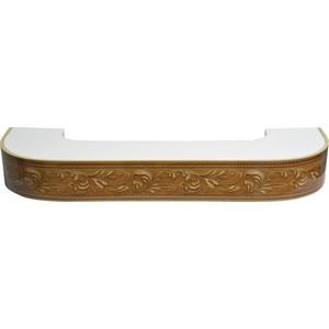 Карниз потолочный пластиковый DDA Поворот Овация двухрядный орех 2.4