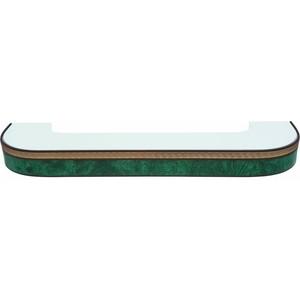 Карниз потолочный пластиковый DDA Поворот Греция двухрядный зеленый 2.4 decolux карниз артик шар двухрядный стеновой золото античное 201 см ø1 6 см 40 колец j aqcvn1