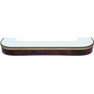 Карниз потолочный пластиковый DDA Поворот Греция двухрядный коричневый 2.6 decolux карниз артик шар двухрядный стеновой золото античное 201 см ø1 6 см 40 колец j aqcvn1