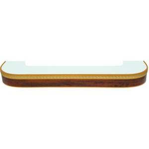 Карниз потолочный пластиковый DDA Поворот Греция двухрядный орех бежевый 2.8 карнизы и аксессуары для штор liedecor карниз греция цвет орех 150 см