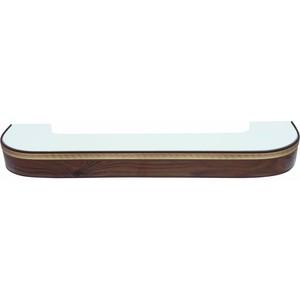 Карниз потолочный пластиковый DDA Поворот Греция двухрядный орех тёмный 3.6 карнизы и аксессуары для штор liedecor карниз греция цвет орех 150 см