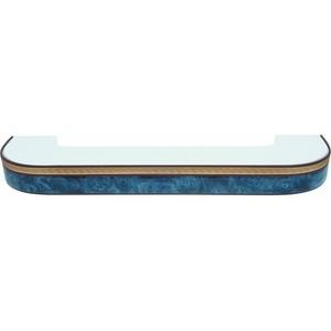 Карниз потолочный пластиковый DDA Поворот Греция двухрядный синий 4.0 decolux карниз артик тор двухрядный стеновой золото античное 201 см ø1 6 см 36 колец z snyk dl