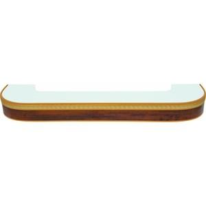 Карниз потолочный пластиковый DDA Поворот Греция трехрядный орех бежевый 3.2 карнизы и аксессуары для штор liedecor карниз греция цвет орех 150 см