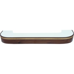 Карниз потолочный пластиковый DDA Поворот Греция трехрядный орех тёмный 2.4 карнизы и аксессуары для штор liedecor карниз греция цвет орех 150 см