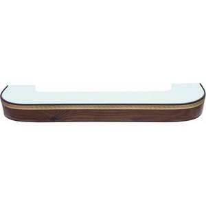 Карниз потолочный пластиковый DDA Поворот Греция трехрядный орех тёмный 3.2 карниз потолочный пластиковый dda прямой греция трехрядный орех тёмный 3 6