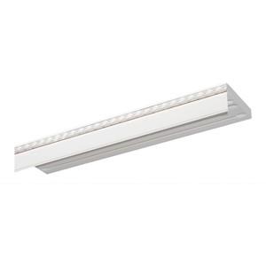 Карниз потолочный пластиковый DDA Прямой Греция двухрядный белый хром 3.6