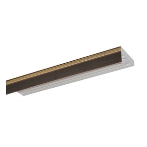 Карниз потолочный пластиковый DDA Прямой Греция двухрядный венге 3.8 decolux карниз артик шар двухрядный стеновой золото античное 201 см ø1 6 см 40 колец j aqcvn1