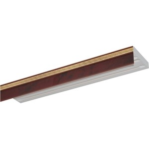 Карниз потолочный пластиковый DDA Прямой Греция двухрядный вишня 3.4