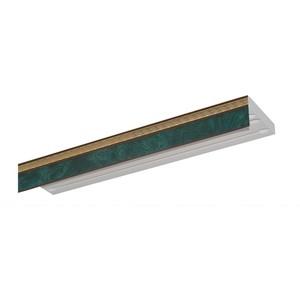 Карниз потолочный пластиковый DDA Прямой Греция двухрядный зеленый 3.6 decolux карниз артик тор двухрядный стеновой золото античное 201 см ø1 6 см 36 колец z snyk dl