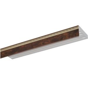 Карниз потолочный пластиковый DDA Прямой Греция двухрядный коричневый 3.0