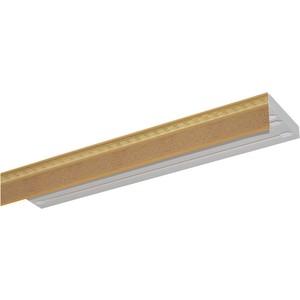 Карниз потолочный пластиковый DDA Прямой Греция двухрядный песок 2.6