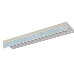 Карниз потолочный пластиковый DDA Прямой Греция трехрядный белый мрамор 3.4 таис
