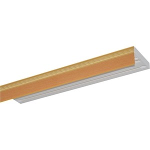Карниз потолочный пластиковый DDA Прямой Греция трехрядный бук 4.0 уголок пластиковый универсальный гибкий 20х20х2700 мм бук натуральный 155