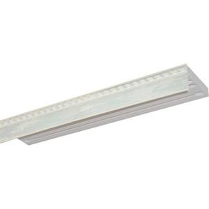 Карниз потолочный пластиковый DDA Прямой Греция трехрядный мрамор хром 2.4 цены