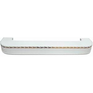 Карниз потолочный пластиковый DDA Поворот Гранд двухрядный белый 2.4