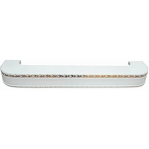 Карниз потолочный пластиковый DDA Поворот Гранд двухрядный белый 3.4 карниз потолочный пластиковый dda прямой гранд двухрядный карельская берёза 3 2