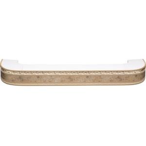 цена Карниз потолочный пластиковый DDA Поворот Гранд двухрядный бронза 3.4