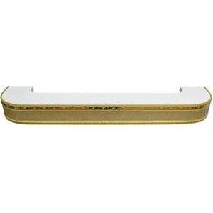 Карниз потолочный пластиковый DDA Поворот Гранд двухрядный песок 3.6 decolux карниз артик тор двухрядный стеновой золото античное 201 см ø1 6 см 36 колец z snyk dl