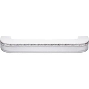 Карниз потолочный пластиковый DDA Поворот Гранд двухрядный серебро 3.2 карниз потолочный пластиковый dda прямой гранд двухрядный карельская берёза 3 2