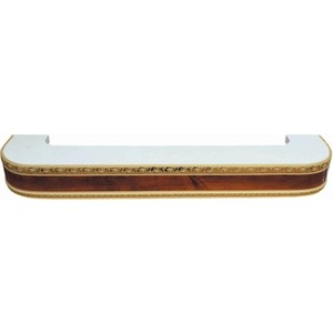 Карниз потолочный пластиковый DDA Поворот Гранд трехрядный орех 1.8