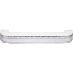 Карниз потолочный пластиковый DDA Поворот Гранд трехрядный серебро 3.8 карниз потолочный пластиковый dda поворот гранд трехрядный серебро 3 8