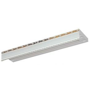 Карниз потолочный пластиковый DDA Прямой Гранд двухрядный белый 3.8