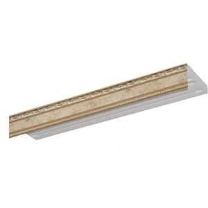 Карниз потолочный пластиковый DDA Прямой Гранд двухрядный бронза 2.4
