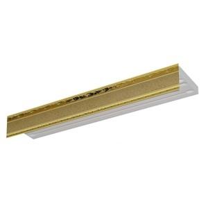 Карниз потолочный пластиковый DDA Прямой Гранд двухрядный песок 2.4 decolux карниз артик тор двухрядный потолочный бело золотой 157 см ø1 6 см 28 колец cuqw s p5