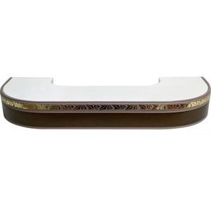 Карниз потолочный пластиковый DDA Поворот Валенсия двухрядный венге 4.0 витра валенсия 35 05 1 дуб венге синга крем