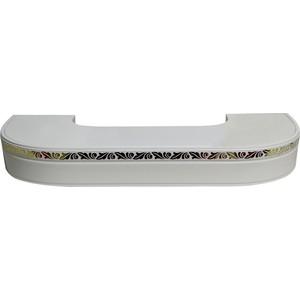 Карниз потолочный пластиковый DDA Поворот Валенсия трехрядный белый 3.4 карниз потолочный пластиковый dda поворот валенсия трехрядный белый 2 2