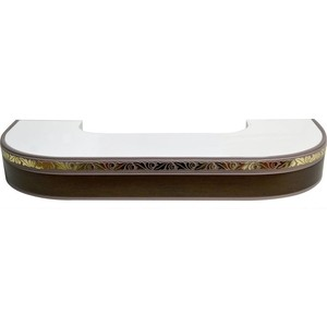 Карниз потолочный пластиковый DDA Поворот Валенсия трехрядный венге 3.8 витра валенсия 35 05 1 дуб венге синга крем