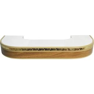Карниз потолочный пластиковый DDA Поворот Валенсия трехрядный дуб 3.2 карниз потолочный пластиковый dda поворот валенсия трехрядный белый 2 2