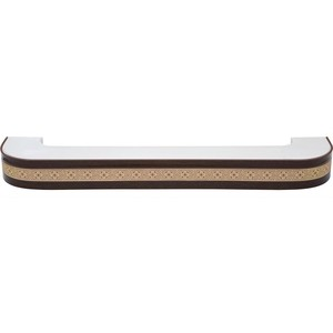 Карниз потолочный пластиковый DDA Поворот Акант двухрядный венге 3.8 decolux карниз артик тор двухрядный потолочный бело золотой 157 см ø1 6 см 28 колец cuqw s p5