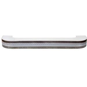 Карниз потолочный пластиковый DDA Поворот Акант двухрядный серебро 3.4