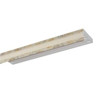 Карниз потолочный пластиковый DDA Прямой Акант двухрядный краке 2.4