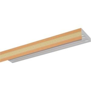 Карниз потолочный пластиковый DDA Прямой Акант трехрядный бук 2.6